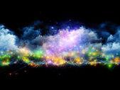 Lights in fractal foam — Stock Photo