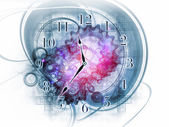 Exploded clock — Foto de Stock