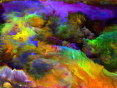 Dance of Fractal Paint — Stock Photo