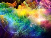 Cool fractal verf — Stockfoto