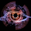 Stock Photo: Eye of machine