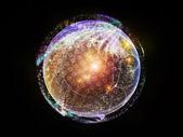 フラクタル球のライト — ストック写真