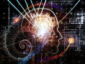 Virtualization of Consciousness — Stock Photo