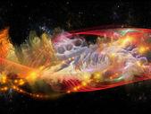 Buiten fractal turbulentie — Stockfoto