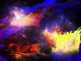Partículas de tinta do fractal — Fotografia Stock