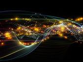 Evolving Dynamic Network — Foto de Stock