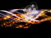 Desdobramento de rede dinâmica — Fotografia Stock