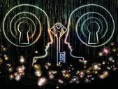 Lights of Encryption — Stock Photo