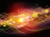Lights of Dynamic Waves — Stock Photo