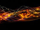 Dynamisch netwerk achtergrond — Stockfoto