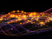 Reich der dynamischen netzwerk — Stockfoto