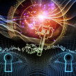 Stock Photo: Virtual Encryption