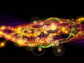 Unfolding of Dynamic Network — Stock fotografie
