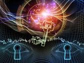 Virtual Encryption — Stock Photo