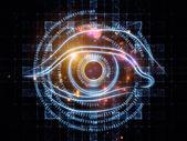 Eye of numbers — Stock Photo