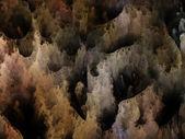 Reinos de turbulência de fractal — Fotografia Stock
