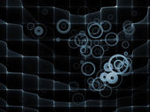 Realms of Fractal Grid — Stock Photo