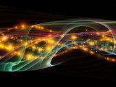 Além da rede dinâmica — Fotografia Stock