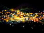 Propagation of Dynamic Network — Stock Photo