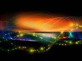 Lichter der fraktale wellen — Stockfoto