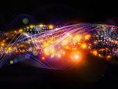 Schichten von dynamischen netzwerk — Stockfoto