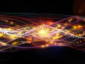 Wellen der dynamischen netzwerk — Stockfoto