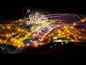 Lichter der dynamischen netzwerk — Stockfoto