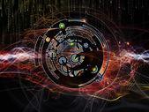 Digital Processing Background — Stock Photo