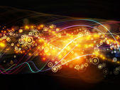 Lights of Dynamic Network — Stock Photo