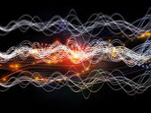 Propagation of Dynamic Waves — Stock Photo
