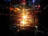 Lights of Fractal Dimensions — Stock Photo