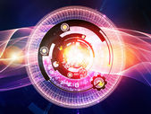 Unfolding of Digital Processing — Stock Photo