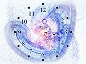 『 小涡旋 』 的时间 — 图库照片