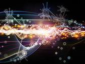 Metaphorische dynamischen netzwerk — Stockfoto
