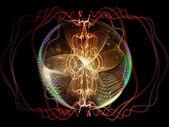 Composição de esfera de fractal — Fotografia Stock