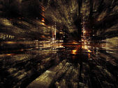 Perspectives of Fractal Metropolis — Stock Photo