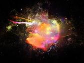 カラフルなデザインの星雲 — ストック写真