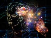 Anticipo di pensieri interiori — Foto Stock