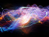 Visualization of Dynamic Waves — Stock Photo