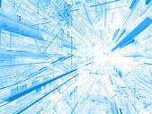 Metrópole fractal conceitual — Fotografia Stock