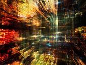 分形世界通讯 — 图库照片