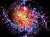 Clock cloud — Stock Photo
