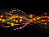 Colorful Dynamic Network — Stock Photo