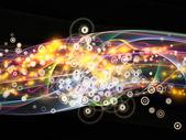 動的ネットワークのライト — ストック写真