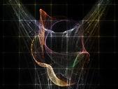 Griglia metaforico particella — Foto Stock