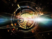 видение цифровой обработки — Стоковое фото