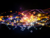 Energy of Dynamic Network — Stock Photo
