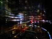 Viajes a metrópolis fractal — Foto de Stock