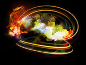Design Nebulae Burst — Stock Photo