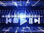 Fale dźwiękowe — Zdjęcie stockowe